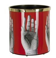 "Fornasetti+Paper+basket+""Mani""+(hands).+Metal.+Printed+and+lacquered+by+hand.+1950s"